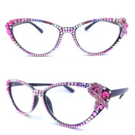 Midi Cateye Reading Glasses - Pink Ribbon