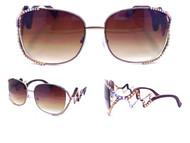Zig-Zag Aviator Sunglasses