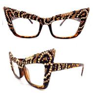 Leopard Square Cateye Glasses