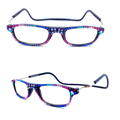If you would like this style, please choose Black as the frame color and Multi2 as the crystal color.