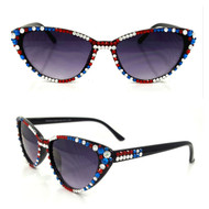 Midi Sunglasses: Fully decked out in Red, White, and Blue!