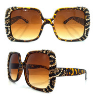 Leopard Style on Brown Frame