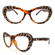 Sage Leopard Cateye Glasses