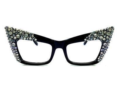 Black Diamond Hematite multi Apex Reading Glasses