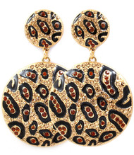 Leopard Disc Earrings