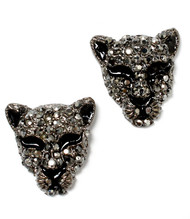 Black Panther Crystal Stud Earring