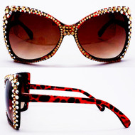 SQUARE Crystal Cat Eye Glasses-ABTOPAZ