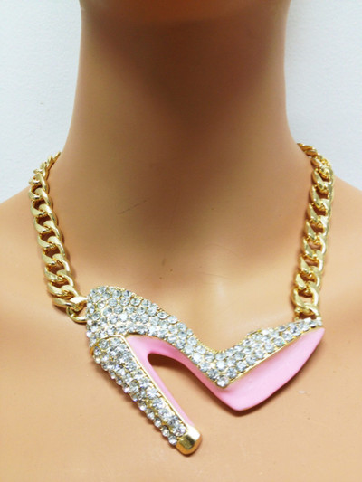 Blinged Out Stiletto Pink Bottoms