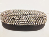 Crystal Sunglass Case-Large Hematite