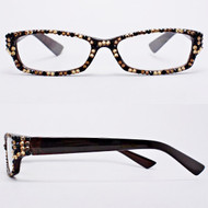 Crystal Reading Glasses- Leopard on Brown Frame