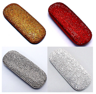 Solid Color Crystal Reader Glasses Case