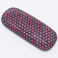Crystal Small Eyewear Case - Fuchsia Black