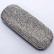 Crystal Small Eyewear Case - Hematite