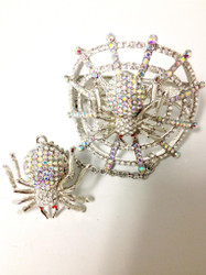 Crystal Spider Slave Ring-Ab Clear