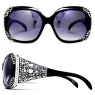Black Bugatti Sunglasses-Hematite