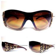 Crystal Leopard Sunglasses