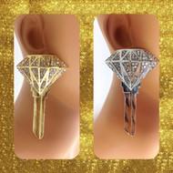 Diamond Key Earring