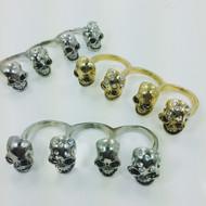 4 Headsmen Skull Ring