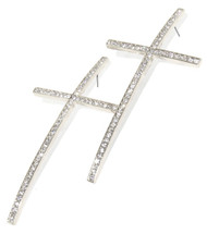 Crystal Cross Stud Earrings