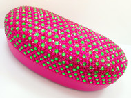 Crystal Sunglass Case-Pink/Grn