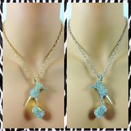Stiletto Pendant Thin Chain Necklace