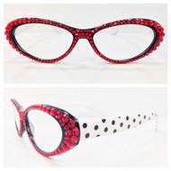 Polka Dot Cateye Reading Glasses