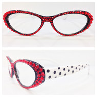 Polka Dot Cateye Reading Glasses
