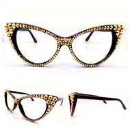 Optical CRYSTAL Cat Eye Glasses - Special Edition 24k