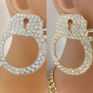 Crystal Handcuff Earring