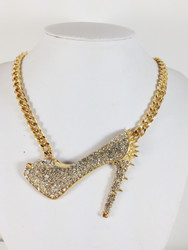 Sexy Spike Heel Stiletto Necklace