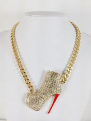 Sexy Stiletto Bootie Necklace