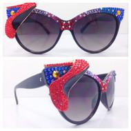 Half and Half Sunglasses - Stiletto redmultiblk