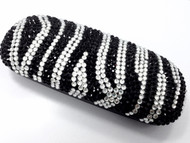 Crystal Small Eyewear Case - Striped Black