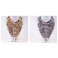Magnificent Crystal Cascade Necklace and Earring Set