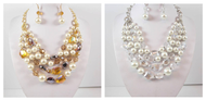 Pearl Menagerie Necklace and Earring Set