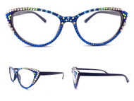 Midi Cateye Reading Glasses Seahawks Inspired
