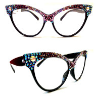 Half and Half Cateye Reading Glasses
