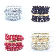 Spiral Pearl Bracelet
