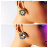 Large Rhinestone and Crystal Embedded Studs