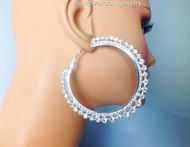 Crystal Glacier Diva Hoop Earrings