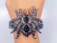 Striking Crystal-Encrusted Tarantula Bracelet