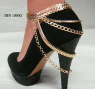 2 set Riveting Multi-metal Layered Stiletto Chain