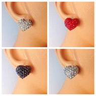 Charming Crystal Heart Earrings