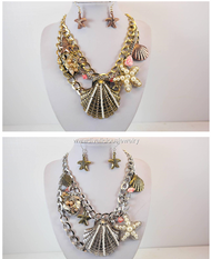 Stunning Nautical Medley Necklace and Earring Set