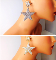 Crystal Double Star Earrings