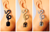 Snake's Crystal Venom Earrings