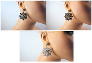 Sassy Spider Web Earrings