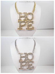 Square HOPE Diva Statement Necklace