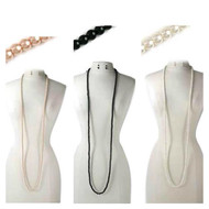 Classic Multifunctional Pearl Necklace and Earring Set