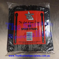Black Spoon Straw Packet of 250